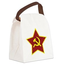 Hammer and Sickle with Star Canvas Lunch Bag