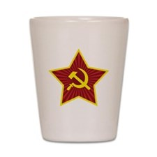 Hammer and Sickle with Star Shot Glass