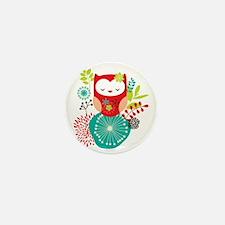 girlyowl Mini Button