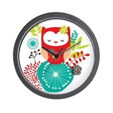 girlyowl Wall Clock