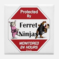 Ninja Protection Tile Coaster