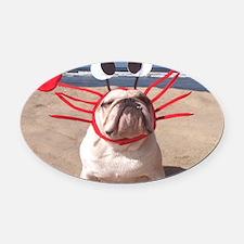 See Food Diet Oval Car Magnet
