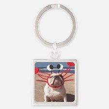 See Food Diet Square Keychain