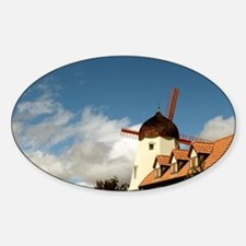 Windmill Solvang Sticker (Oval)