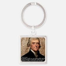 Jefferson 2400X3000.001f Square Keychain