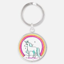 Unicorn Round Keychain