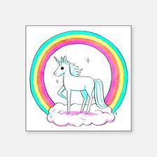 """Unicorn Square Sticker 3"""" x 3"""""""