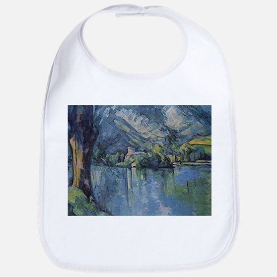 Annecy Lake - Paul Cezanne - c1896 Cotton Baby Bib