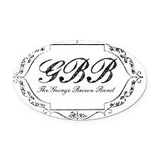 GBB_VintageLogo2 Oval Car Magnet