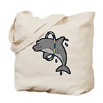 Dolphin Hoop Porpoise Cartoon Tote Bag