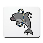 Dolphin Hoop Porpoise Cartoon Mousepad