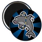 "Dolphin Hoop Porpoise Cartoon 2.25"" Magnet (100 pa"