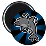 Dolphin Hoop Porpoise Cartoon Magnet