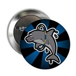 Dolphin Hoop Porpoise Cartoon Button