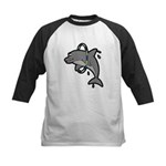 Dolphin Hoop Porpoise Cartoon Kids Baseball Jersey