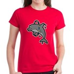 Dolphin Hoop Porpoise Cartoon Women's Dark T-Shirt