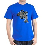 Dolphin Hoop Porpoise Cartoon Dark T-Shirt