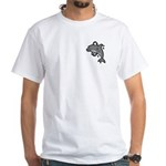 Dolphin Hoop Porpoise Cartoon White T-Shirt