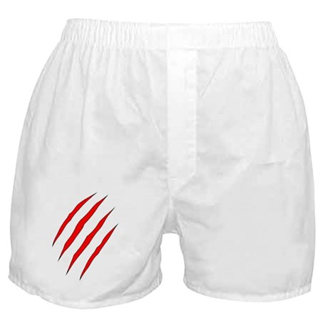claw_marks_red T Boxer Shorts