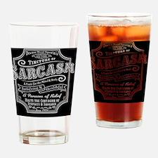 sarcasm-oldtyme-TIL Drinking Glass