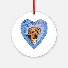 rhodesian-heart Round Ornament