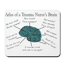 A Trauma Nurses Brain Mousepad