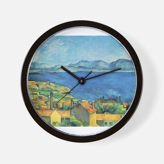 Bay of Marseille - Paul Cezanne - c1885 Wall Clock