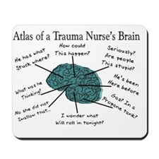 Atlas of a Trauma Nurses Brain Mousepad