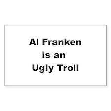 Al Franken, Ugly troll Rectangle Decal