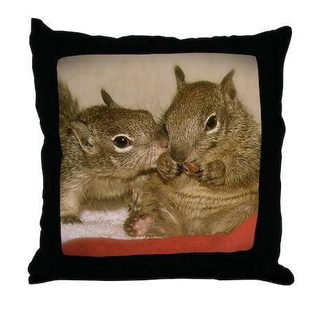 babysquirrelsmousepad1 Throw Pillow