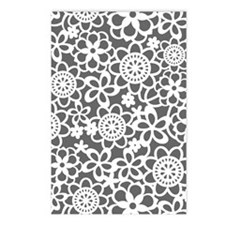 floral_lace_pattern_notec Postcards (Package of 8)