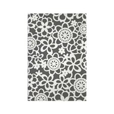 floral_lace_pattern_notecard Rectangle Magnet