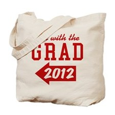 with-the-grad-2012_left Tote Bag