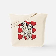 dalmatian puppy love Tote Bag