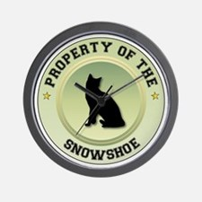 Snowshoe Property Wall Clock