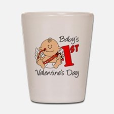 Babys First Valentines Day Shot Glass
