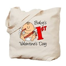 Babys First Valentines Day Tote Bag