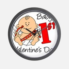 Babys First Valentines Day Wall Clock