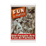 Old People Are Fun At Parties Mini Poster Print