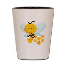 happy_honeybee Shot Glass