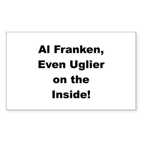 Al Franken, Uglier on the Inside Sticker (Rectangu