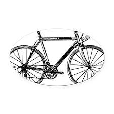 Road Bike Oval Car Magnet