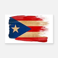 Puerto Ricotex3-paint stylete Rectangle Car Magnet