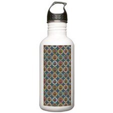 Circle Owl Pattern-kin Sports Water Bottle