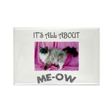 All About ME-OW Ragdoll Cat Rectangle Magnet