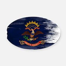 north dakota painttex3-paint Oval Car Magnet
