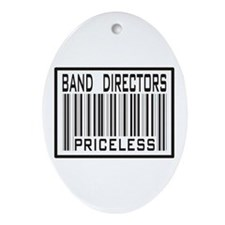 Band Directors Priceless Barcode Oval Ornament