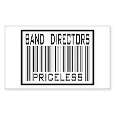 Band Directors Priceless Barcode Sticker (Rectangu