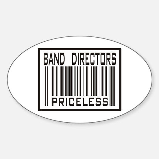 Band Directors Priceless Barcode Oval Decal