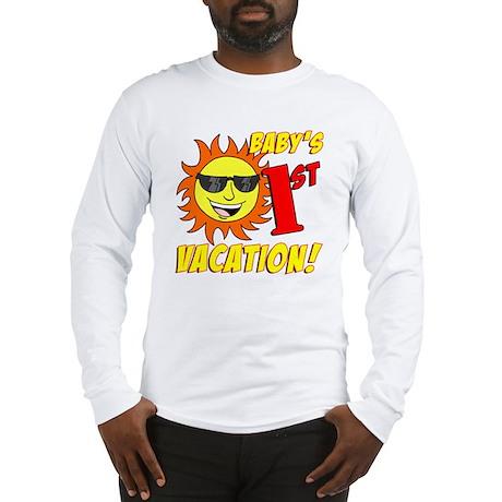 Babys First Vacation Shirt Long Sleeve T-Shirt